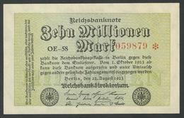 GERMANY / ALEMANGNE. 10 Millionen Mark. 22/8/1923. Pick 106a/Ros 105a. UNC./ NEUF. - [ 3] 1918-1933: Weimarrepubliek