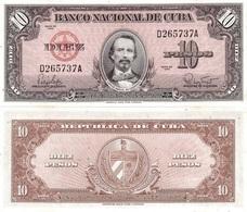CUBA 10 Pesos P 79 B 1960 UNC - Cuba