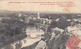 ROQUEMAURE (Gard): Vue D'ensemble Du Canal Du Rhône Et Des Tours De L'ancien Château Des Comtes De Toulouse - Roquemaure