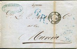 PREFILATELIA     Carta   Marsella   A   Murcia   ( 18-VII-1956 )  - 101A - 1801-1848: Precursores XIX