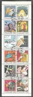 FEUILLET De CARNET La Communication En Bandes Déssinées 1988.  Y&T N°BC2515. Feuillet X 12 TP. 2 F 20 > Oblitéré. - Gedenkmarken