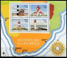 Südafrika Mi# Block 21 Postfrisch/MNH - Lighthouses - Blocks & Sheetlets