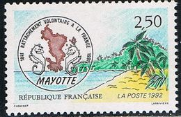 FRANCE : N° 2735 ** (Rattachement De Mayotte à La France) - PRIX FIXE : 1/3 De La Cote - - Unused Stamps