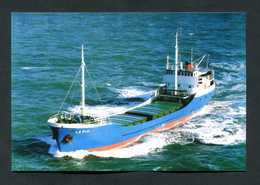 "Carte-photo - Cargo "" La Pia "" Vers 1995 Au Large D'Aurigny (Alderney)"" Normandie - Commercio"