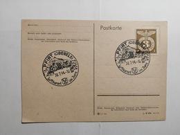Deutsches Reich  Postkarte 1944 Pfirt - Allemagne