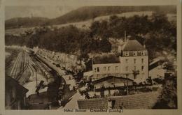 Luxembourg // Grundhof // Hotel Brimer (Zug - Railways) Bahn Ubergang Unter 1935 Rare - Autres