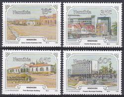 Namibia Südwestafrika SWA 1990 Geschichte History Windhuk Bauwerke Gebäude Rathaus City Hall Townhall, Mi. 675-8 ** - Namibia (1990- ...)