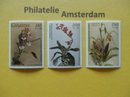 Guyana 1988, FLORA ORCHIDS ORCHIDEEEN ORCHIDÉES ORQUÍDEAS: Mi 2170-72, ** - Orchidee
