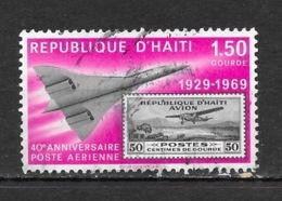 Avions, République D'Haïti - 40e Anniversaire Poste Aérienne 1929-1969 - Concorde 1,50 Gourde - Airplanes