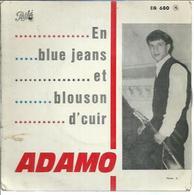 """45 Tours EP - ADAMO - PATHE 680  -   """" EN BLUE JEANS ET BLOUSON D'CUIR """" + 3 - Other - French Music"""