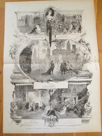 Gravure  1873 THEATRE  LA COMEDIE FRANCAISE    Reprise De Marion  De Lorme VICTOR HUGO  Edmond Morin - Old Paper