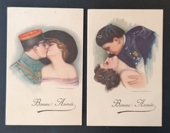 2 Cpa. Illustrateur Nanni. Série 338.Ed Dell Anna & Gasparani. Milano. - Nanni
