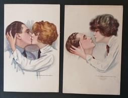 2 Cpa. Illustrateur Nanni. Série 373-2 Et 3..Ed Dell Anna & Gasparani. Milano. - Nanni