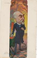 Art Nouveau Combes . Anticlerical.  Anges Chauves Souris. Chouette. Signée Moloch. Separation Eglise Etat - Hommes Politiques & Militaires