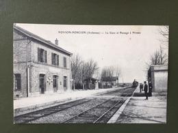 NOVION-PORCIEN -La Gare Et Passage à Niveau - France