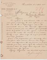 SUISSE: RUSS-SUCHARD, Fabrique De Chocolat à Serrières / L De 1885 > Saujon - Schweiz