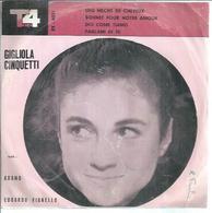 """45 Tours EP - ADAMO - TOP 4081  -   """" UNE MECHE DE CHEVEUX """" + 1 ( ITALIE ) + GIGLIOLA CINQUETTI  """" DIO COME TIAMO """" +1 - Vinylplaten"""