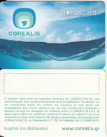 GREECE - Corealis Fish Restaurants(green), Bonus Member Card, Unused - Non Classificati