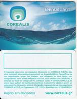 GREECE - Corealis Fish Restaurants(blue), Bonus Member Card, Unused - Non Classificati