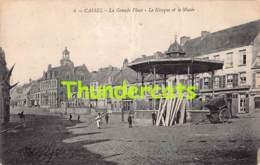 CPA 59 CASSEL LA GRANDE PLACE LE KIOSQUE ET LE MUSEE - Cassel