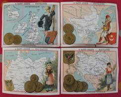 4 Chromos A Saint-joseph, Toiles Gants Soieries Vêtements Enfant, Paris. Image Chromo. Vers 1880. Cartes Pays - Other