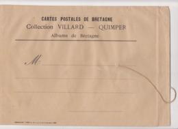 Enveloppe Sachet Cartes Postales Bretagne Collection VILLARD QUIMPER Albums Bretagne - Imp Unzel Paris  !VIDE ! - Matériel