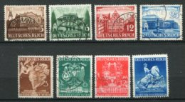 17548 ALLEMAGNE N°688/91, 692/5 °/* Foires De Leipzig Et Vienne     1941   B/TB - Allemagne