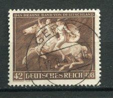 17551 ALLEMAGNE N°704 ° 42p.+108p.  8è. Ruban Brun      1941   TB - Allemagne