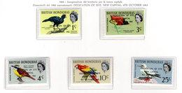1966 -  HONDURAS  BRITANNICO -  Mi. Nr.  192/196 - NH - (AS2302.45) - Honduras Britannico (...-1970)