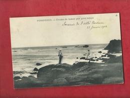 CPA - Porspoder - Etudes De Lames Par Gros Temps - Ecrit : Souvenir De L'Abbé Pontaven 23 Janvier 1912 - France