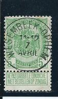 OCB 83 - Afstempeling Type 2L WESEMBEEK-OPHEM - COBA 15 - 1893-1907 Wappen