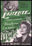 """Spartito - L'assente - Canzone Beguine Dal Film Italo Francese """"Legione Straniera"""" Con Vivienne Romance 1953 - Música De Películas"""
