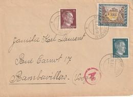 LSC De SENHEIM  Alsace Occupée Pour Rambervillier  Occupation Allemande  15 03 43 Censure Allemande Ae - Guerre De 1939-45