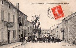 CPA De LA CAVALERIE - Grand'rue Et La Poste. - La Cavalerie