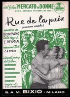"""Spartito - Rue De La Paix  (samba - Colonna Sonora Dal Film """"Mercato Delle Donne"""") (V.Young, Testo Or. E.Heyman) 1954 - Música De Películas"""