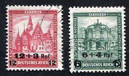 Allemagne, Weimar, N°439/40 Oblitérés ; Deutsches Reich Michel N°463/4, Qualité Très Beau - Used Stamps