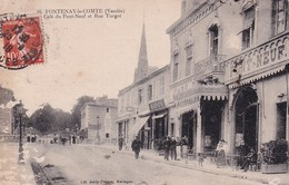 D85  FONTENAY LE COMTE  Café Du Pont Neuf Et Rue Turgot - Fontenay Le Comte