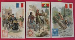 5 Chromos A La Grâce De Dieu, Mercerie Richard-Bouet, Laval. Image Chromo. Vers 1880. Poste Pays Timbre - Autres