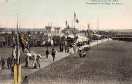 CP 14 Calvados Trouville  Sur Mer Promenade De La Plage Planches Les Bazars 45 - Trouville