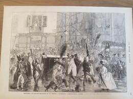1873 ESPAGNE   Le Mercredi Des Cendres   Enterrement Traditionnel De La Sardine  Miércoles De Ceniza Entierro Tradiciona - Vieux Papiers