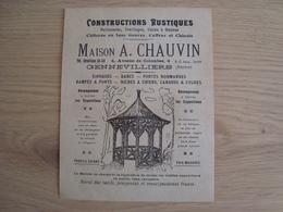 DOCUMENT PUBLICITAIRE MAISON A. CHAUVIN GENNEVILLIERS - Pubblicitari