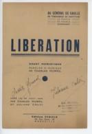 ° WW2 ° Au Général De Gaulle ° Libération ° Charles Humel ° Partition 1944 ° - Documents Historiques