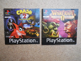 Notice Jeu Crash Bandicoot 2 Et Warcraft 2 Sur Playstation 1 - Sony PlayStation