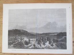 Gravure 1873 Pays De Galles South WALES    Les Greves   à MERTHYR   HOUILLE CHARBON STROKE  Grevist Mine Mineur - Non Classificati