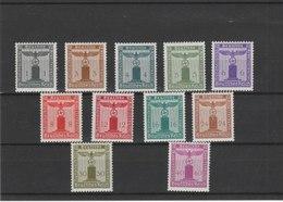 SERVICE**LUXE N° 116/126 COTE Y&T 2011 = 45.00 EUROS - Unused Stamps