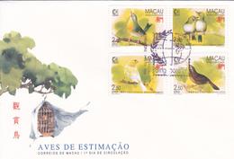 Selos - Aves 1 Fdc Macau - Timbres