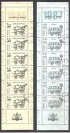 2 BANDES Journée Du Timbre 1986/1987. Y&T N°BC2411A / 2469A. Bandes X 6 TP. 2 F 20+60c + 2 Vignettes > Oblitérées. - Libretti