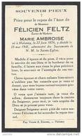 HALANZY ..-- Mr Félicien FELTZ , époux De Mme Marie AMBROISE , Né En 1876 , Décédé En 1941 à HALANZY . . - Aubange
