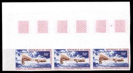 YT PA 193-195 NON DENTELE Très Beau - IMPERF Very Fine Avions Célèbres - Niger (1960-...)