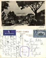 Gibraltar, Alameda Park (1945) RPPC Postcard Censor Cancel - Gibraltar
